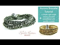 Aurora Right Angle Weave Bracelet Tutorial - YouTube