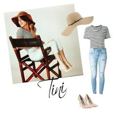 """Tini Stoessel Outfit"" by violetta-forever ❤ liked on Polyvore featuring Bassike, Dondup, Sophia Webster and Coal"