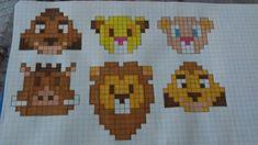 Crochet Animal Patterns, Stuffed Animal Patterns, Crochet Animals, Stitch Patterns, Cool Pixel Art, Math Books, Art Drawings Sketches, Hama Beads, Pattern Art