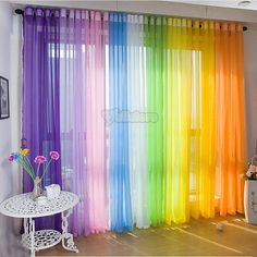 50 Beautiful Home Curtain Designs Ideas - Dekoration Curtains For Closet Doors, Curtain For Door Window, Bay Window, Curtains For Kids, Window Drapes, Unicorn Rooms, Unicorn Bedroom, Voile Curtains, Sheer Curtain Panels