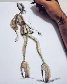 Fashion Poses, Fashion Art, Fashion Design, Fashion Sketchbook, Fashion Sketches, Victorian Era Dresses, Fashion Figure Drawing, Lady Gaga Fashion, Croquis Fashion