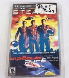PSP UMD Stealth Movie Wipeout Pure Game NEW Jessica Biel Jamie Foxx Josh Lucas