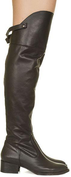 Bota over the knee preta Taquilla - Taquilla - Loja online de sapatos femininos