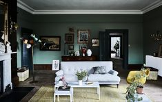 Gravity Home: Moody living room in an 18th-century country home in England