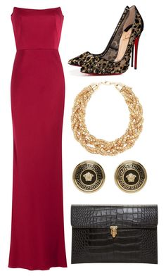 """Untitled #691"" by meryem-mess ❤ liked on Polyvore featuring Alexander McQueen, Forever 21, Christian Louboutin and Versace"