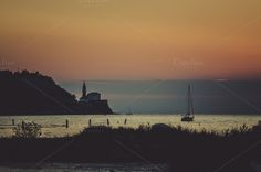 After sunset by the sea by Dreamy Pixel on Creative Market