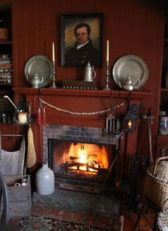 Prim fireplace display