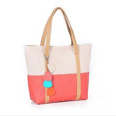 Contraste estilo coreano de la Mujer Erlen color Splicng Corazón Tote / One Shoulder Bag (Sreen del color) – USD $ 5.99