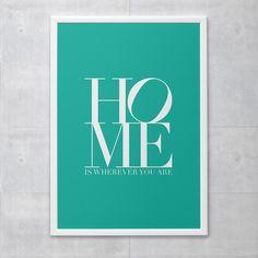 Poster - Home Turquesa
