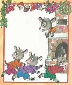 vsk8 Goat Art, Wolf, Stories For Kids, Conte, Story Time, Storytelling, Fairy Tales, Wonderland, Kindergarten
