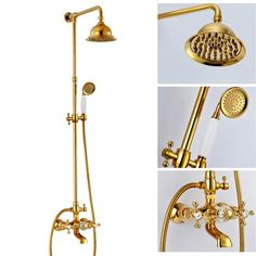 299.99 - Suex Ti-PVD Gold Traditional Exposed Shower Package