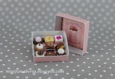 Miniature Chocolate Box - handmade dollhouse - one inch scale 1:12 on Etsy, $5.40