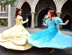 Belle beauty and the beast and Ariel the little mermaid