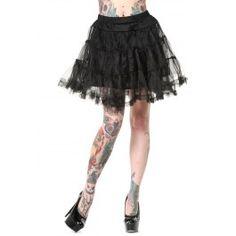 Black Petticoat, eli kuvan kaltainen lyhyt musta tyllihame (helma hieman polven yläpuolelle)