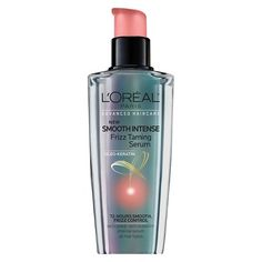 Advanced Haircare Smooth Intense Frizz Taming Serum by L'Oreal Paris. Anti-frizz leave-in serum instantly smoothes & polishes hair for a silky, frizz-free sleek shine. Anti Frizz Hair, Anti Frizz Serum, Hair Serum, Frizzy Hair, Wavy Hair, Long Hair, Best Hair Care Products, Beauty Products, Styling Products