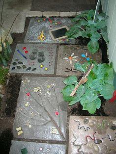 garden stepping stones…