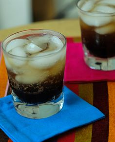This tamarind rum fizz drink is a refreshing and tasty start to a meal.