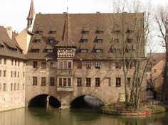 Nuremburg.  Had dinner in the restaurant on the first floor over the river.