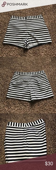 "NWOT Express High Waisted Striped Shorts NWOT Express High Waisted Striped Shorts 2.5"" inseam Express Shorts"