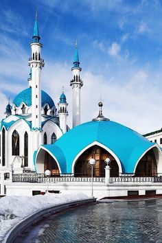 Kul Sharif mosque in Russia Islamic Architecture, Beautiful Architecture, Art And Architecture, Unique Buildings, Amazing Buildings, Places Around The World, Oh The Places You'll Go, Beautiful World, Beautiful Places