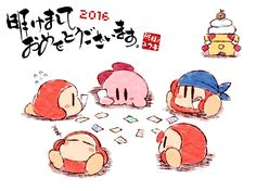 Kirby and Waddle Dees (So cute)