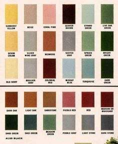 Exterior colors for 1960 houses House colors and Paint swatches
