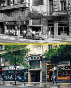 Cinematograful Corso, fost Victoria mai 1989 vs mai 2018. #bucurestiulmeudrag Bucharest, Old City, Old Town, Times Square, Nostalgia, Travel, Beautiful, Design, Viajes