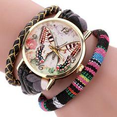 Women's Leather Fashion Watch Luxury Gold Ladies Dress Watches 2017 Duoya Weave Band Casual Bracelet Watch Quartz Clock  #Affiliate