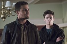 BuddyTV Slideshow | 'The Flash' and 'Arrow' Crossover Photos: Heroes Unite to Save the Legends