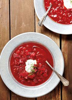 Beet Borscht, Borscht Recipe, Borscht Soup, Soup Recipes, Healthy Recipes, Beet Recipes, Sweet Soup, Fermentation Recipes, Yogurt