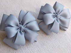 Tie and Tiaras Factory - Tie and Tiaras Factory - Accessories Ribbon Art, Ribbon Hair Bows, Diy Hair Bows, Diy Bow, Diy Ribbon, Ribbon Crafts, Ribbon Flower, Baby Bows, Baby Headbands