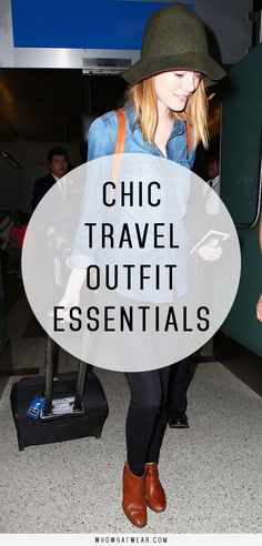 Chic travel outfit essentials to know.