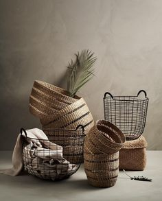 Well, if your home already is clutter-free then you can always store your storage baskets Baskets On Wall, Storage Baskets, Diy Rangement, Hm Home, Clutter Free Home, Rope Basket, Basket Bag, Rattan Furniture, Boho Diy