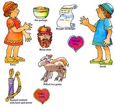 Complete Jacob and Esau lessons with crafts, worksheets, etc., for elementary school age children