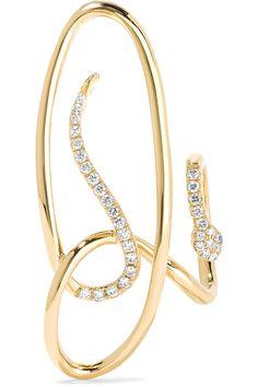 Yvonne Léon | Serpent 18-karat gold diamond earring | NET-A-PORTER.COM