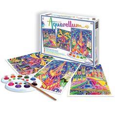 Aquarellum Parisian Painting Kit - Little Passports Paris By Night, Little Passports, Pinball, Love Art, Teaching Kids, Parisian, Gifts For Kids, Vibrant, Kit