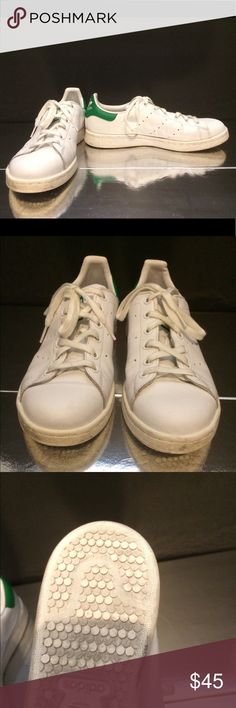 Adidas Adidas Stan Smith White & Green Sneakers. Used but in great condition adidas Shoes Sneakers