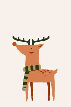 Christmas Deer ★ Find more seasonal #iPhone + #Android #Wallpapers and #Backgrounds at @prettywallpaper