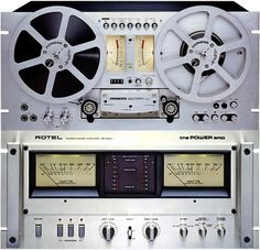 Vintage Audio Love Reel to Reel & Rotel Power amp. Above: Pioneer (Collectioned) Equipment For Sale, Audio Equipment, Hifi Video, Tape Recorder, High End Audio, Audio System, Audiophile, Objects, Memories