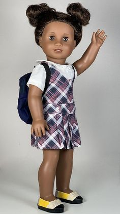 All American Girl Dolls, American Doll Clothes, Ag Doll Clothes, Doll Sewing Patterns, Doll Clothes Patterns, Clothing Patterns, Preppy Dresses, Sewing Projects, Pencil Shoes