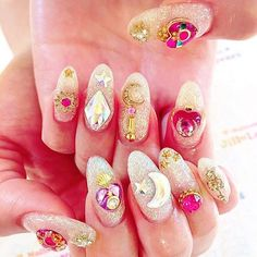 Very pretty ✨ ✰ credit to misaki_ii. ✰  Tag me in your Sailor Moon Nails to be featured!