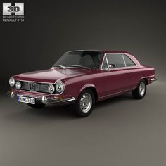 model of Renault IKA Torino Coupe 1976 Car 3d Model, Fiat 600, Porsche Carrera, Action Poses, Car Brands, Motor Car, Cars And Motorcycles, Muscle Cars, Vintage Cars