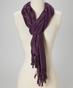 Look at this Deep Purple Pashmina Wool/Silk-Blend Scarf on #zulily today!