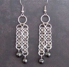 chainmail earrings - Google Search