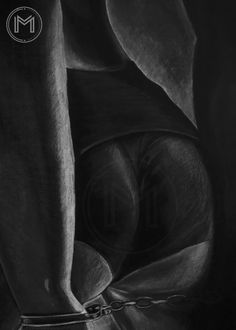 """Continuing a series of """"dark drawings"""". I drew already faces, I thought, should I focus on another part of the body? The work has more than a year. Inspired by various images on the Web…"""