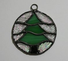 Handmade Stained Glass Christmas Tree Ornament by JBsGlassHouse ...