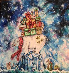 #johannaschristmas #ascoresdonatal #coloringbookforadult #coloringbook #livrosdecolorir #aquarela #watercolor