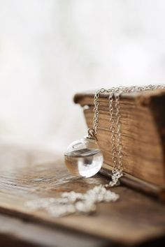 Tear drop necklace , water necklace , simple necklace , Sterling silver , small dainty , Irish jewellery , crystal bridal , bridesmaids gift