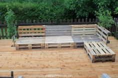 DIY Pallet Garden Furniture Plans | Pallet Wood Projects and Ideas.