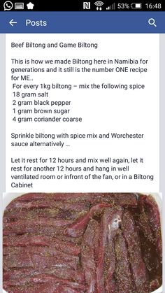 RECIPES: Biltong Spice Recipes | Hunting